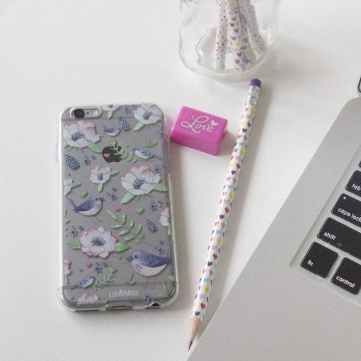 Bird Clear iphone case, iPhone 7, 6s, 6, Plus, TPU clear case