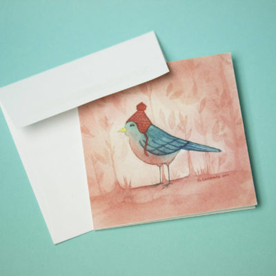 Bird greeting card, Mini greeting card, Thank you card, Birthday Card,