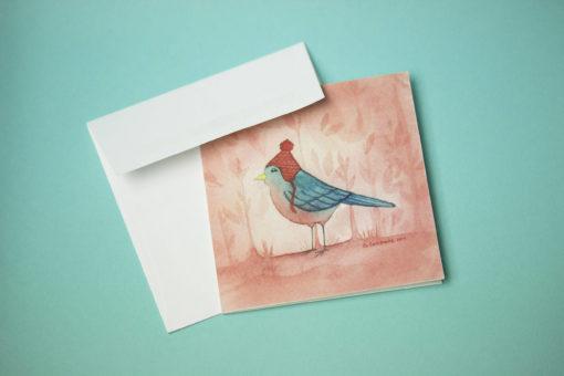 Bird greeting card, Mini greeting card, Thank you card, Birthday Card,