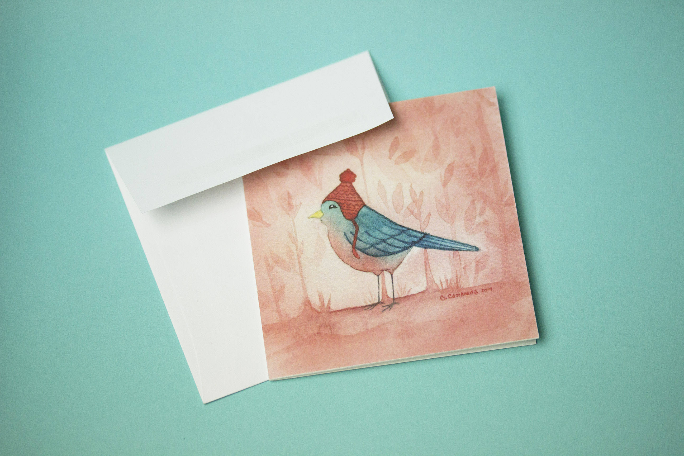 Bird greeting card mini greeting card thank you card birthday bird greeting card mini greeting card thank you card birthday card bookmarktalkfo Images