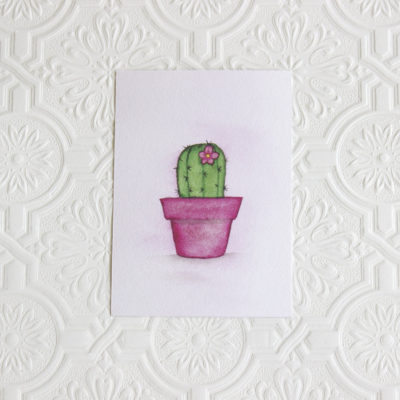 Cactus art print, Southwestern art, Nursery wall art, Nursery decor