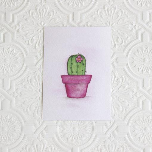Cactus art print, Southwestern art, Nursery wall art, Nursery decor