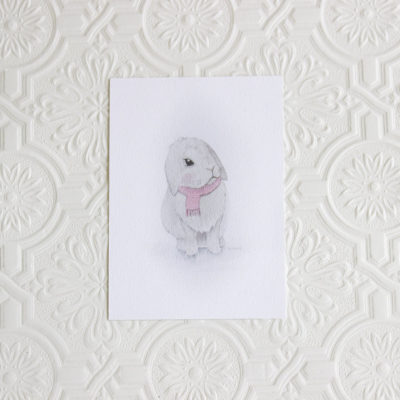 Cute Bunny art print, Nursery art print, Nursery decor, Wall decor