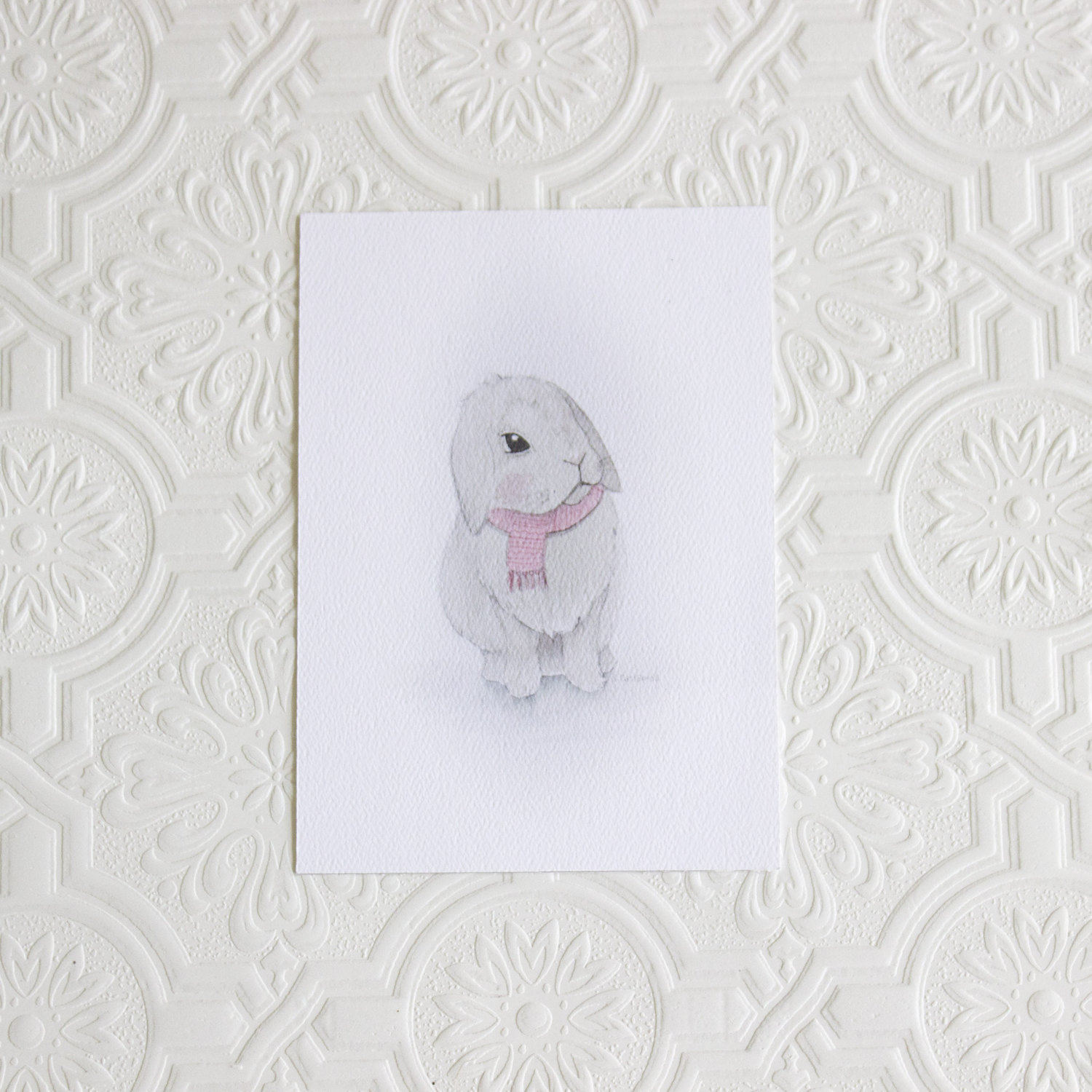 Cute Bunny Art Print Nursery