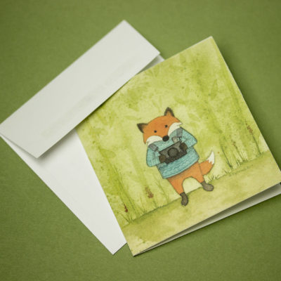 Fox greeting card, Mini greeting card, Thank you cards