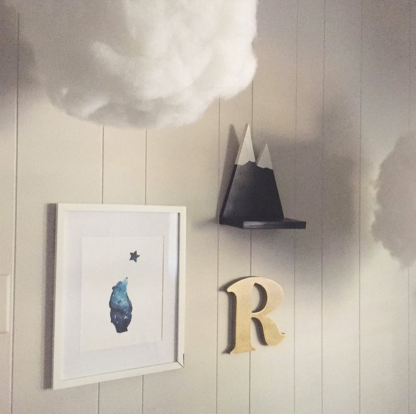 Galaxy Bear Art Print Nursery Wall Woodland