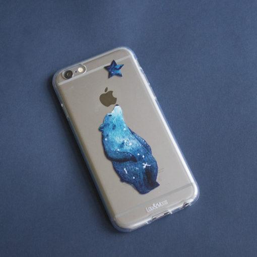 buy popular 4ba39 4c83c Galaxy Bear Clear iphone case, iPhone 7, 6s, 6, Plus, TPU clear case,  Constellations