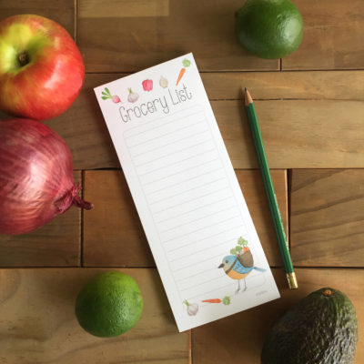 Grocery List / Note pad / Magnetic note pad / shopping list