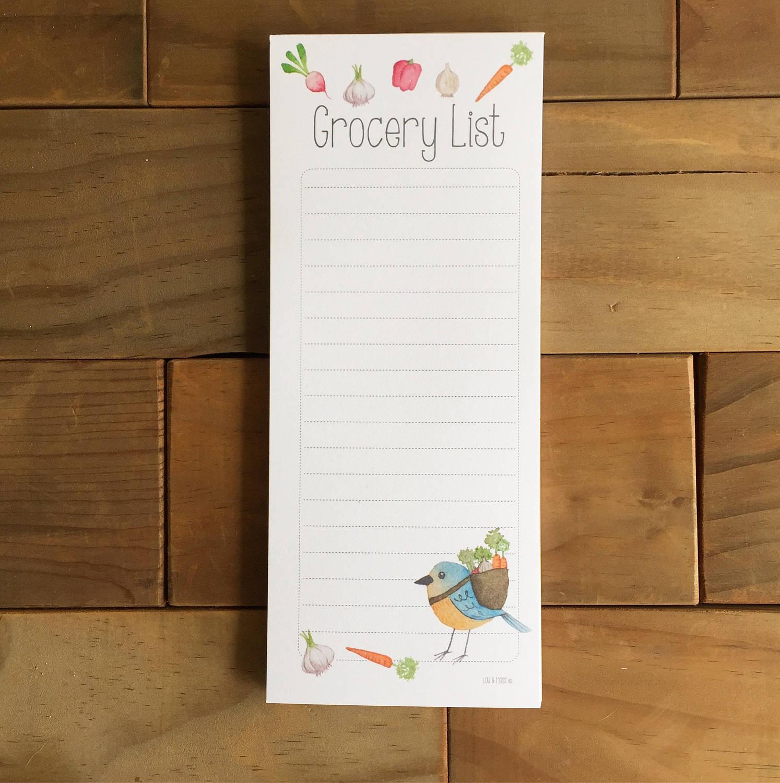 grocery list stationery