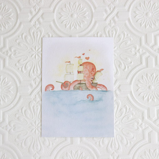 Octopus Art Print Nursery